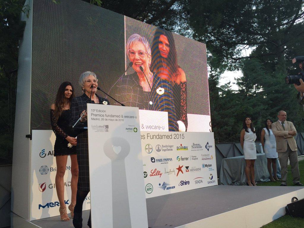 Conxita Tarruella, figura Pública Sanitaria en los Premios Fundamed