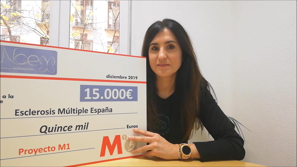 Detrás de la nube solidaria brilla Noelia Martín: 15.000€ para investigación en 2019